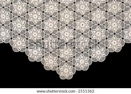 Handmade tablecloth - stock photo