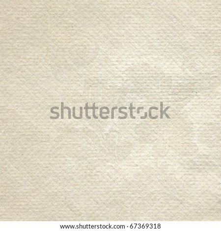 Handmade textured paper  with roses print - stock photo