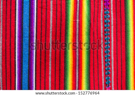 Handmade traditional guatemalan design fabric  - stock photo