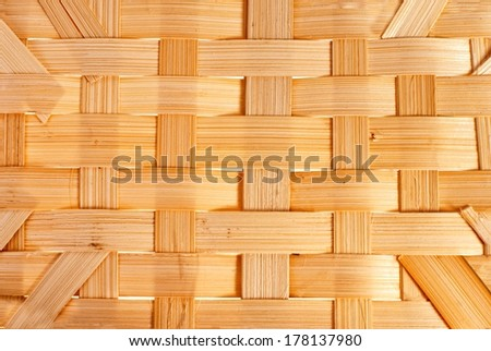 Handmade wicker texture rom natural material - stock photo