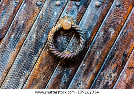 handmade wood old textura background whith copyspace - stock photo