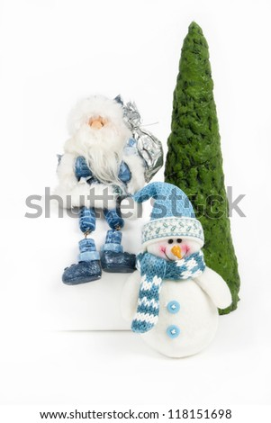 Handmade xmas decorations from papier-mache - stock photo