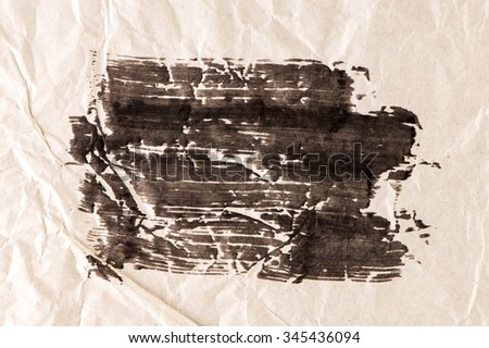 Handpainted ink on paper background. - stock photo