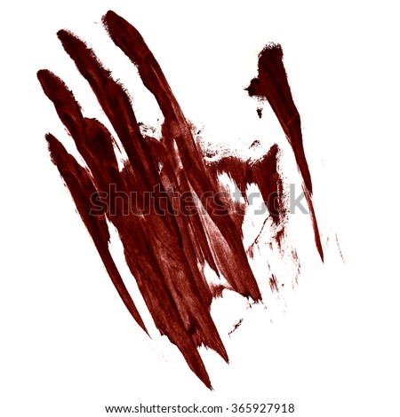 handprint blood smeared - stock photo