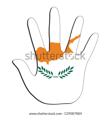 Handprint with flag inside - Cyprus