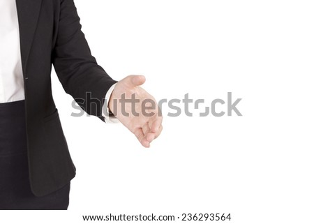 hands about to shake hands - stock photo