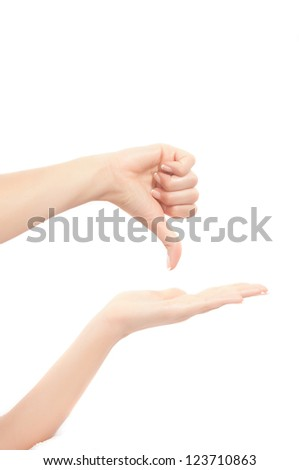 hands and fingers signs and symbols in white background