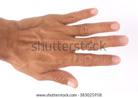 hands and fingers with white background