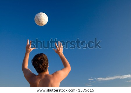 Hands&ball - stock photo