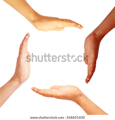 Hands circle - stock photo