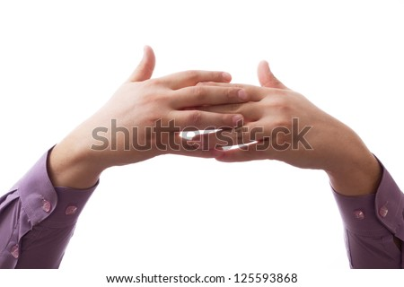 Hands clasped together for a prayer