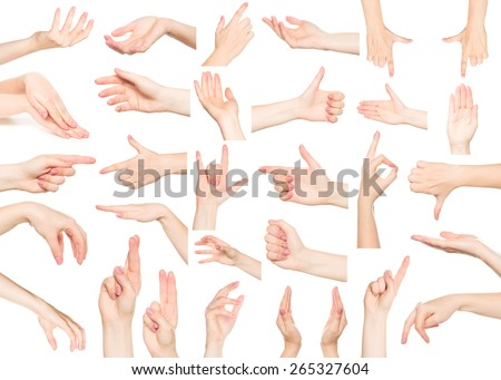 Hands collage