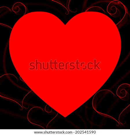 Hands Copyspace Meaning Valentines Day And Red - stock photo