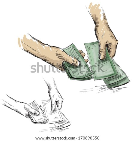 Hands counting cash money