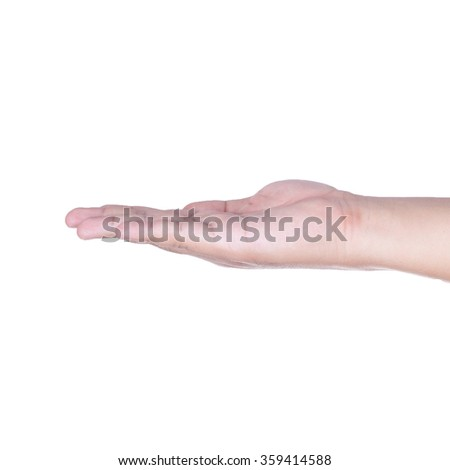 Hands facing up- isolated on white background