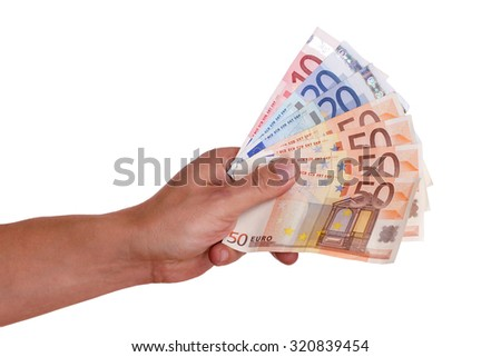 Hands giving money