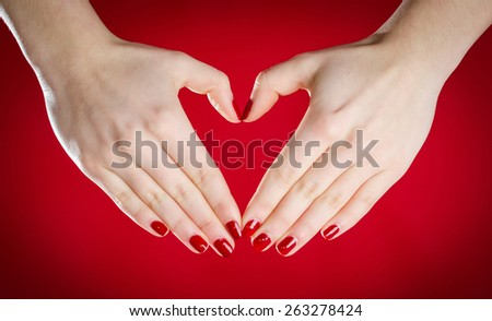 Hands heart shape concept - stock photo