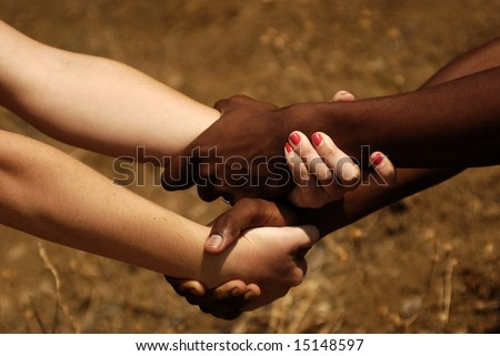 Hands holding - stock photo