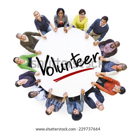 Hands Holding Around the Volunteer Concepts - stock photo
