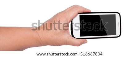 hands holding smart phone