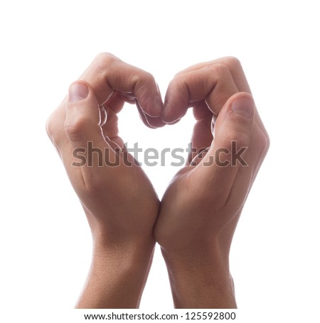 Hands in the form of heart - stock photo