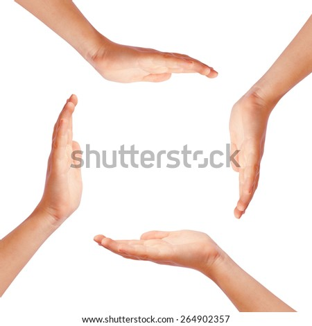 Hands making circle