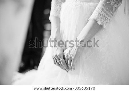 hands of bride
