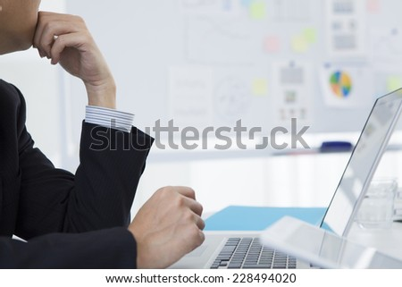 Hands of business people - stock photo