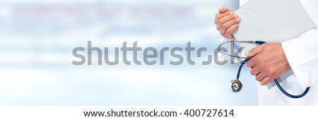 Hands of medical doctor. - stock photo