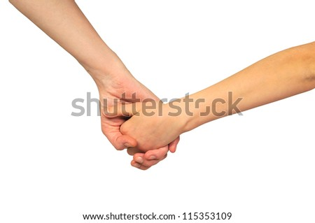 Hands of mother and daughter holding each other