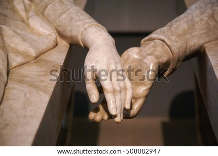 Hands of Teruel's lovers, Teruel, Aragon, Spain