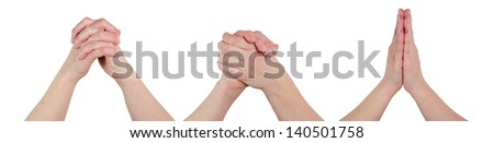 hands poses together - stock photo