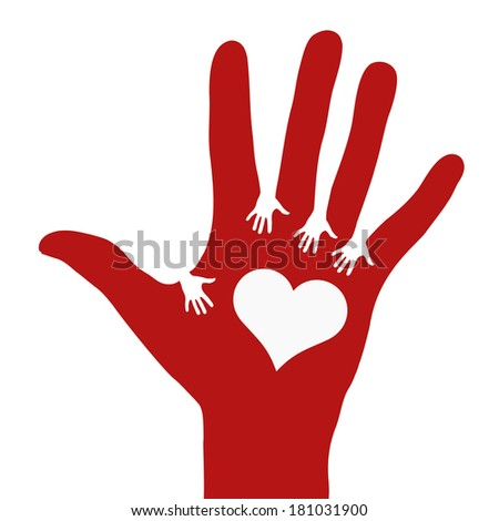Hands reaching each other - stock photo