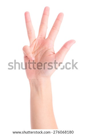hands show the number nine - stock photo