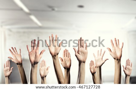 Hands showing gestures