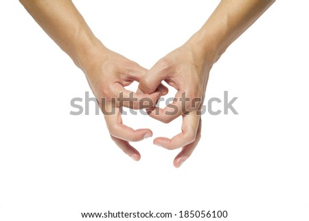 Hands that touch and intertwine, concept - stock photo