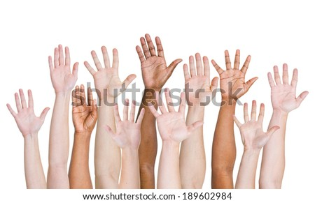 Hands up - stock photo