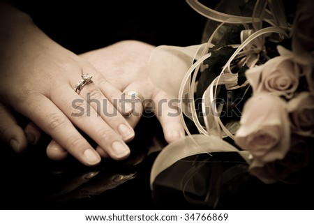 hands wedding