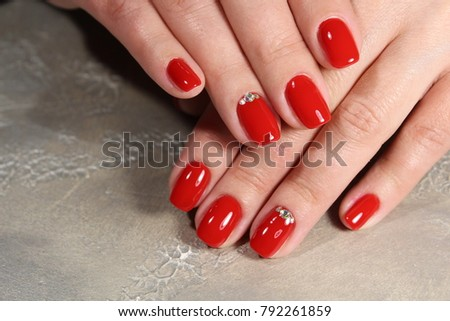 Hands Beautiful Manicure Natural Nails Gel Stock Photo (Royalty Free ...