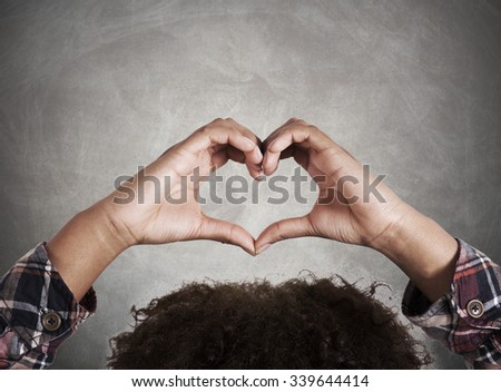 hands with heart sign - stock photo
