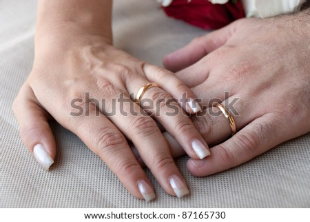 hands with rings and marriage