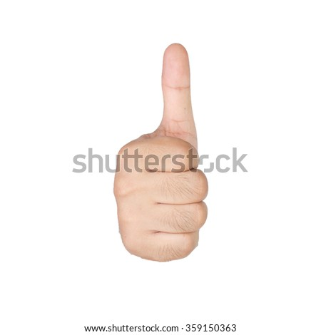 hands with thumbs up isolated on white background
