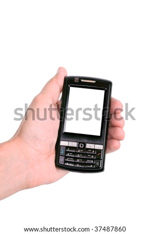 Hands working on a mobile telephone