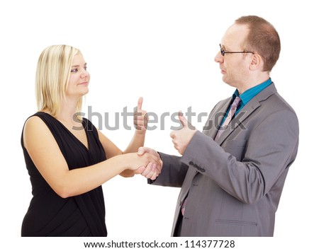 Handshake after a good interview - stock photo