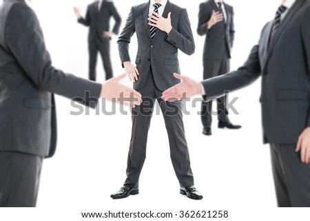 Handshake between businessman - stock photo