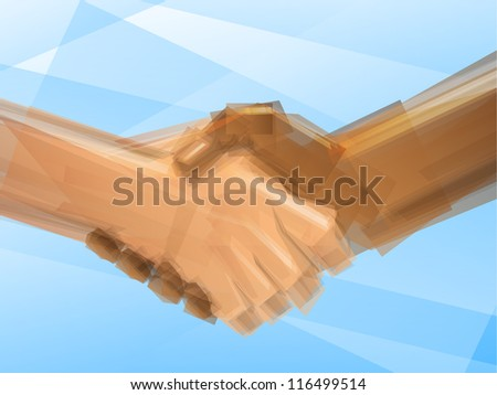 Handshake Business Deal - stock photo