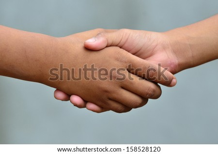 Handshake, close up  - stock photo
