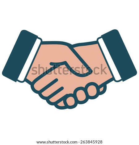 Handshake icon. Simple iconic Illustration of a handshake. Vector version also available in my gallery.  - stock photo