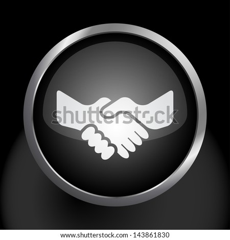 Handshake Icon Symbol - Raster Version, Vector Also Available. - stock photo