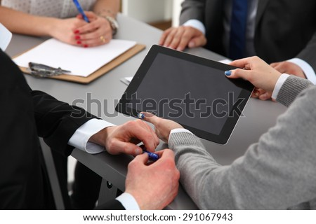 handshake in office